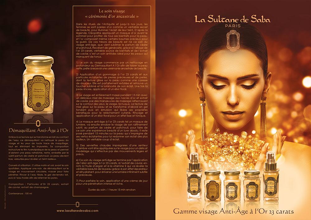 tristan barbier visuel or leaflet couverture la sultane de saba